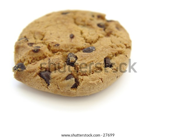 Chololate Chip Cookie isoalted on white background