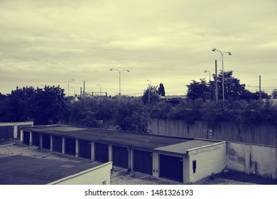 Chomutov, Czech republic - August 17, 2019: cloudy weather in centre of city at sommer afternoon