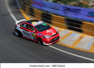 CHON BURI-FEBUARY 24: Bangsaen Grandprix Thailand Super Series, 21 - 26 Febuary 2017, Bangsaen Street Circuit, Chon Buri, THAILAND.