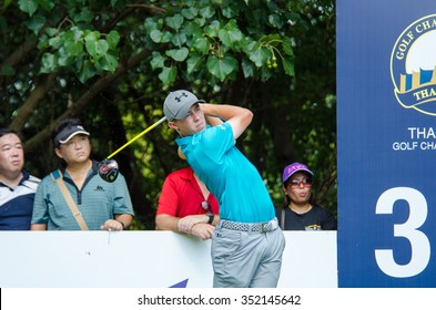 CHONBURI - DECEMBER 10: Matthew Fitzpatrick of England player in Thailand Golf Championship 2015 (Tournament on the Asian Tour) at Amata Spring Country Club on December 10, 2015 in Chonburi, Thailand.