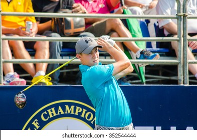 CHONBURI - DECEMBER 10 : Matthew Fitzpatrick of England player in Thailand Golf Championship 2015 at Amata Spring Country Club on December 10, 2015 in Chonburi, Thailand.