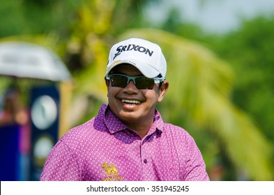 CHONBURI - DECEMBER 10 :  Prayad Marksaeng of Thailand player in Thailand Golf Championship 2015 (Tournament on the Asian Tour) at Amata Spring Country Club on December 10, 2015 in Chonburi, Thailand.