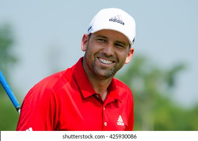 CHONBURI - DECEMBER 10 : Sergio Garcia of Spain player in Thailand Golf Championship 2015 (Tournament on the Asian Tour) at Amata Spring Country Club on December 10, 2015 in Chonburi, Thailand.