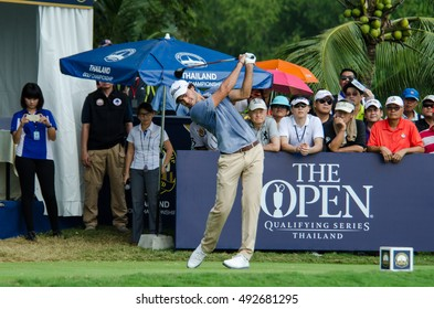 CHONBURI - DECEMBER 13 : Clement Sordet of France player in Thailand Golf Championship 2015 at Amata Spring Country Club on December 13, 2015 in Chonburi, Thailand.