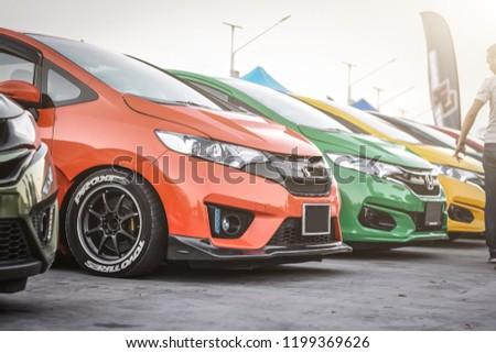 Chonburi December 16 Honda Jazz Gk Stock Photo Edit Now 1199369626