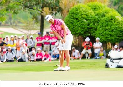 CHONBURI - FEBRUARY 23: Yani Tseng form Taiwan in Honda LPGA Thailand 2013 at Siam Country Club, Pattaya Old Course on February 23, 2014 in Chonburi, Thailand.