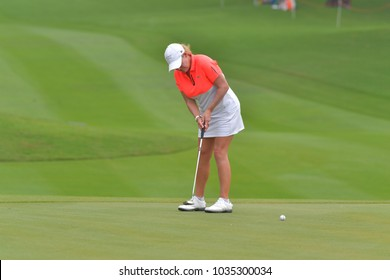 CHONBURI - FEBRUARY 24 : Cristie Kerr of USA in Honda LPGA Thailand 2018 at Siam Country Club, Old Course on February 24, 2018 in Pattaya Chonburi, Thailand.