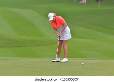 CHONBURI - FEBRUARY 24 : Cristie Kerr of USA in Honda LPGA Thailand 2018 at Siam Country Club, Old Course on February 24, 2018 in Pattaya Chonburi, Thailand.