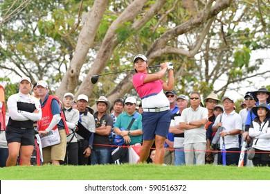 CHONBURI - FEBRUARY 26 : Yani Tseng of Chinese Taipei in Honda LPGA Thailand 2017 at Siam Country Club, Pattaya Old Course on February 26, 2017 in Chonburi, Thailand.
