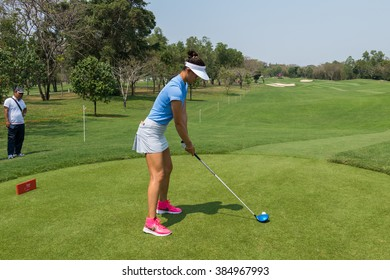 CHONBURI - FEBRUARY 27: Michelle Wie of USA in Honda LPGA Thailand 2016 at Siam Country Club, Pattaya Old Course on February 27, 2016 in Chonburi, Thailand.