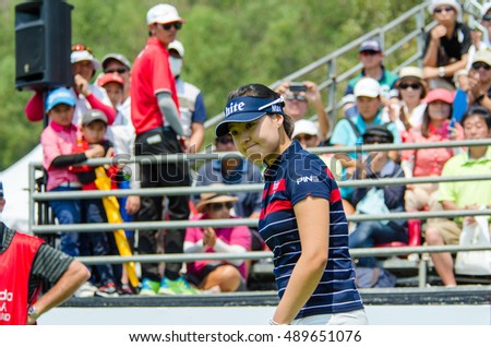 CHONBURI - FEBRUARY 28 : In Gee Chun of South Korea in Honda LPGA Thailand 2016 at Siam Country Club, Pattaya Old Course on February 28, 2016 in Chonburi, Thailand.