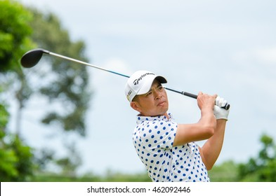 CHONBURI - JULY 31 : Chan Shih-chang of Chinese Taipei winner in King's Cup 2016 at Phoenix Gold Golf & Country Club Pattaya on July 31, 2016 in Chonburi, Thailand.
