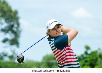 CHONBURI - JULY 31 : Eddie Pepperell of England Taipei winner in King's Cup 2016 at Phoenix Gold Golf & Country Club Pattaya on July 31, 2016 in Chonburi, Thailand.