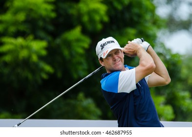 CHONBURI - JULY 31 : Jason Knutzon of USA  in King's Cup 2016 at Phoenix Gold Golf & Country Club Pattaya on July 31, 2016 in Chonburi, Thailand.