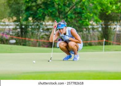 CHONBURI - MARCH 1: Lexi Thompson of USA in Honda LPGA Thailand 2015 at Siam Country Club, Pattaya Old Course on March 1, 2015 in Chonburi, Thailand.