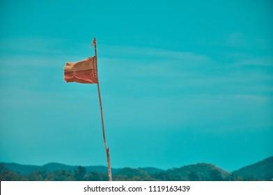 chonburi thailand beach and flag