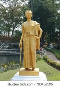 CHONBURI, THAILAND - DECEMBER 29, 2017: Simulation Thao Suranari Monument  at Mini Siam