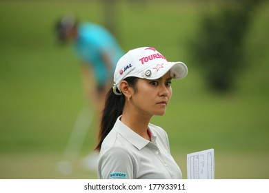 Chonburi, Thailand - FEB 20:Ai Miyazato of Japan in action during Honda LPGA Thailand 2014 at Siam Country Club Pattaya Old Course on February 20, 2014 in Chonburi, Thailand.
