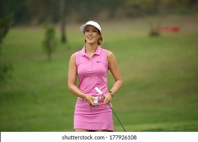 Chonburi, Thailand - FEB 20:Michelle Wie of USA in action during Honda LPGA Thailand 2014 at Siam Country Club Pattaya Old Course on February 20, 2014 in Chonburi, Thailand.
