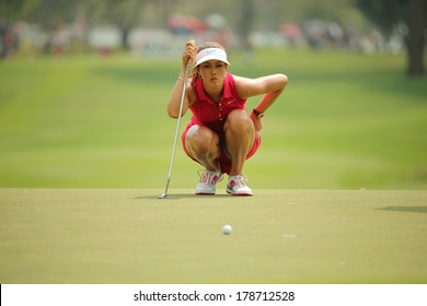 Chonburi, Thailand - FEB 23:Michelle Wie of USA in action during Honda LPGA Thailand 2014 at Siam Country Club Pattaya Old Course on February 23, 2014 in Chonburi, Thailand.