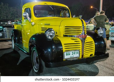 CHONBURI, THAILAND - FEBRUARY 10, 2018: The 1941 DODGE Pickup Truck  parking at the car park.