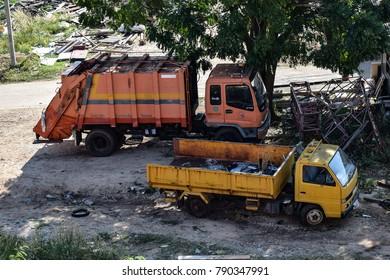 CHONBURI, THAILAND - January 1, 2018 :Heavy Duty Truck