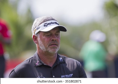 CHONBURI,THAILAND :DECEMBER 13:DARREN CLARKE in action during THAILAND GOLF CHAMPIONSHIP 2015  on December 13 at Amata Spring Country Club, Chonburi Thailand.