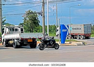 CHONBURI-THAILAND-OCTOBER 14 : Transportation truck on the road, October 14, 2016 Chonburi Province, Thailand