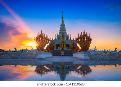 Chonburi,Thailand-October 25,2019:Pagoda at Saen Suk Temple Bangsaen  , Province Chonburi Thailand