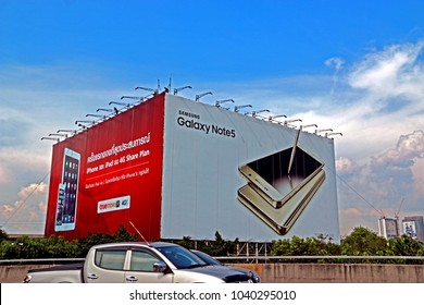 CHONBURI-THAILAND-OCTOBER 29 : The billboards for Advertising near the highway, October 29, 2015 Chonburi Province, Thailand