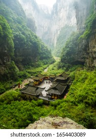 Chongqing, China - January 2, 2020 : Wulong Karst National Park , an ancient spot and transformer movie spot