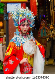 Chongqing, China - January 3, 2020 : Women in Ancient Chinese Performance suit