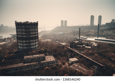 CHONGQING, CHINA – MARCH 13: Chongqing Iron & Steel Co. old site aerial view on March 13, 2018 in Chongqing. It is now an Industrial Museum and the symbolic site of the steel industry in Chongqing.