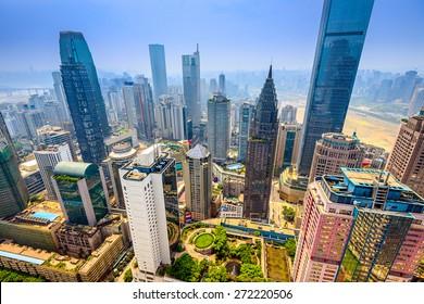 Chongqing, China skyscraper cityscape.