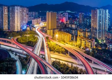 Chongqing overpass scenery