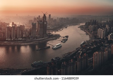 Chongqing urban architecture and city skyline in China