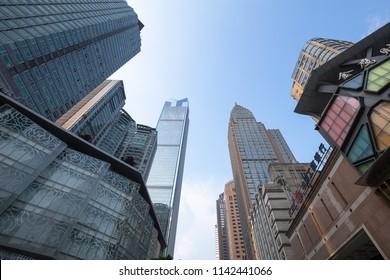 chongqing,china - may,21,2018:chongqing  jiefangbei commercial walking street is the famous place in chongqing china.