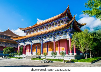 "Chongsheng Monastery, one of the largest Buddhist centers in south-east Asia. Translation is ""The Golden Shrine of Buddha"". Dali, Yunnan province, China"