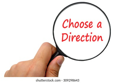 choose a direction word. Magnifier and puzzles.