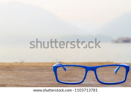 07ee0bafb9e Choose Focal Point Bright Blue Goggles Stock Photo (Edit Now ...