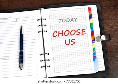 Choose us message on today page