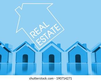 Choose your home, 3d conceptual illustration