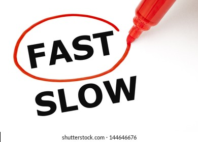 Choosing Fast instead of Slow. Fast selected with red marker.