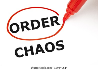Choosing Order instead of Chaos. Order selected with red marker.