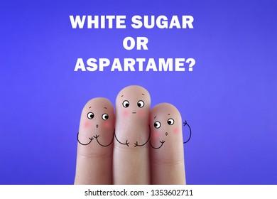 Choosing white sugar or aspartame?