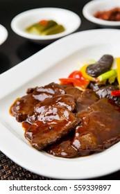 Chop Steak on plate
