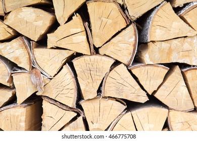 Chopped firewood background