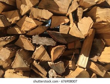 Chopped Firewood Pile