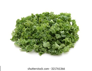 Chopped kale, isolated on a white background