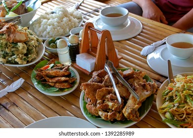 Chopped roast pig or lechon, pancit or noodles, are just some of the typical Filipino foods reserved for fiestas, celebrations, or other festivities.